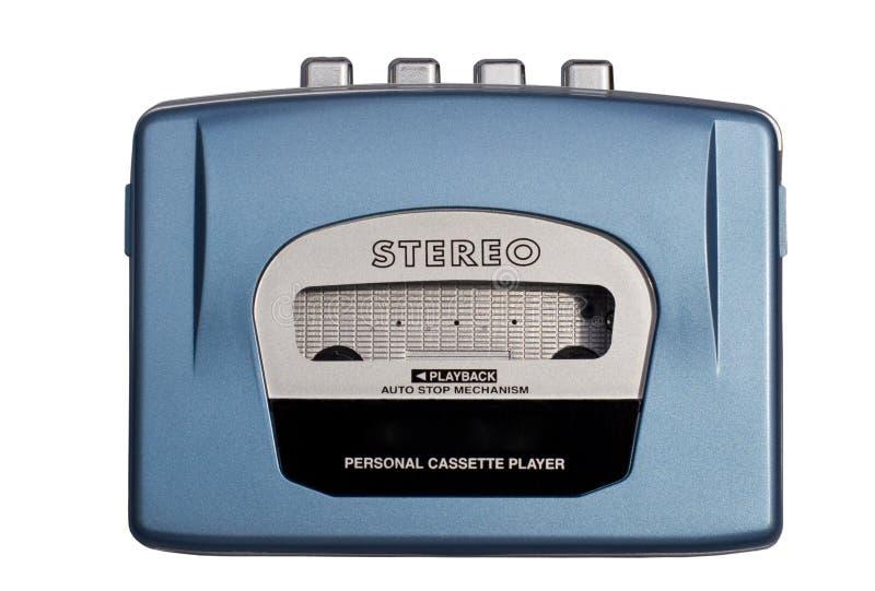 niebieski cassete osobiste gracza obrazy stock
