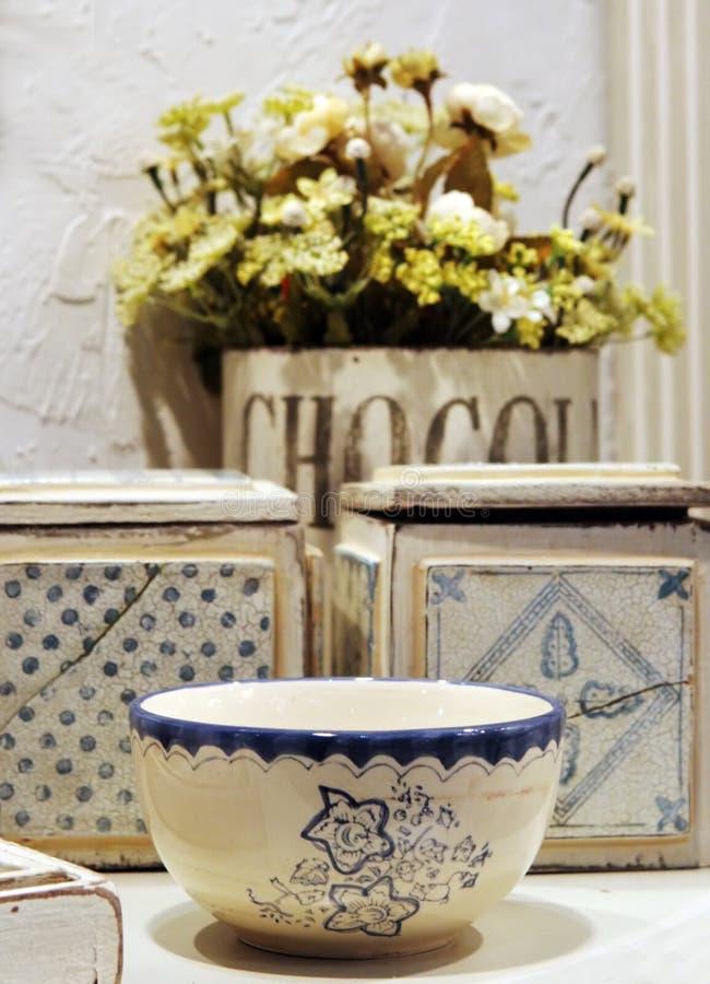 niebieski ceramiczny white fotografia stock