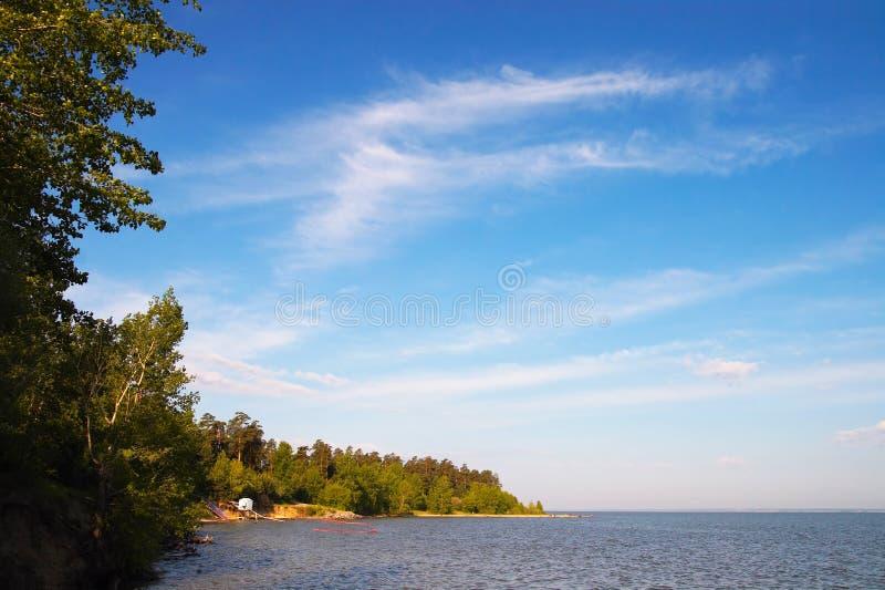 niebieski chmury white morskiego zdjęcia royalty free