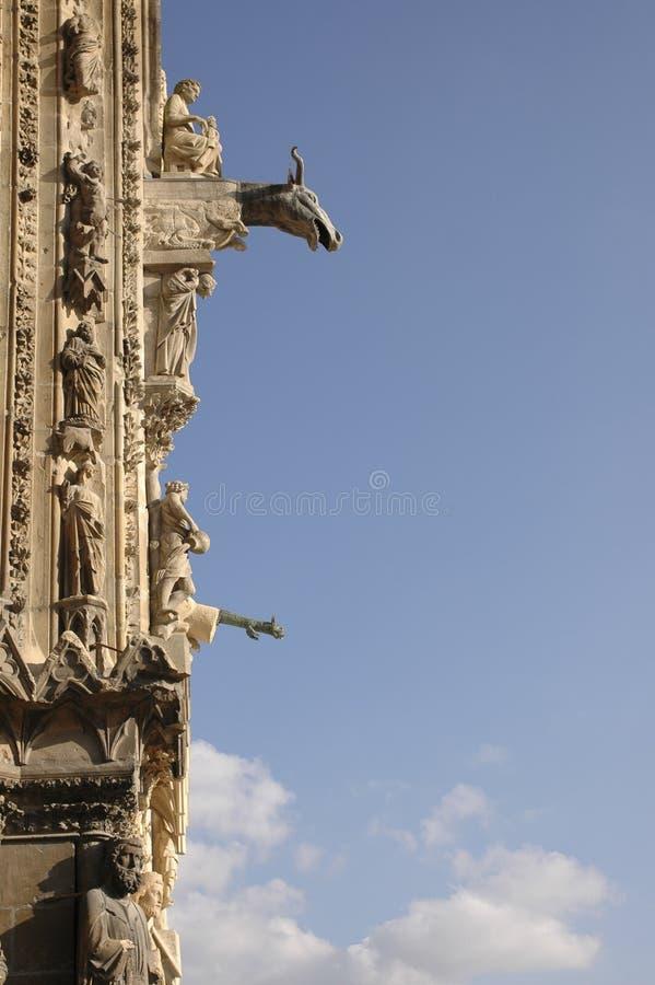 niebieski cyzelowanie katedry niebo fotografia royalty free