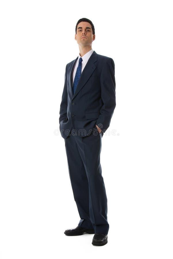 niebieski człowiek garnitur. fotografia royalty free