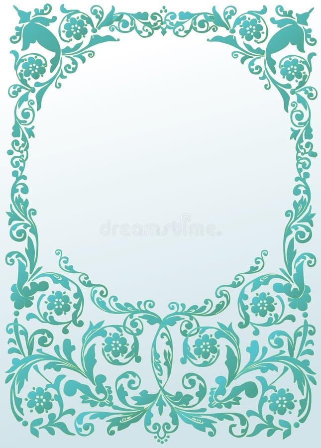 niebieski dekoracji ramy światło ilustracji