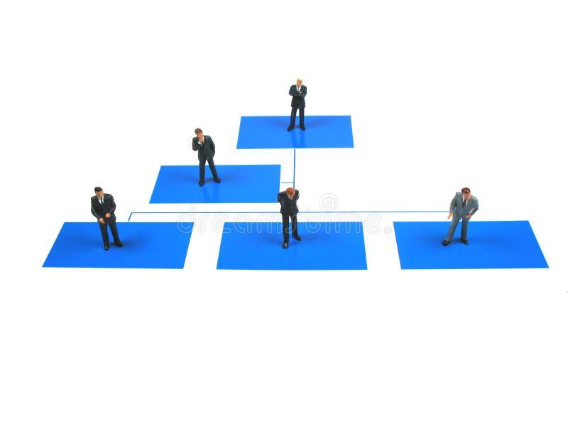 niebieski diagram działania zdjęcia stock