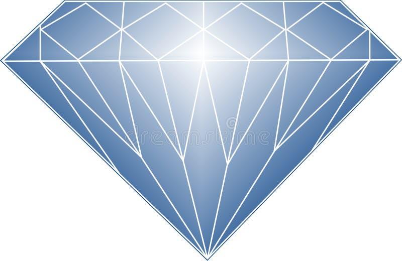 niebieski diament royalty ilustracja