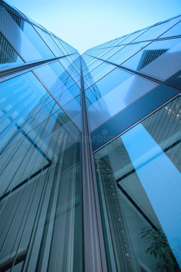 niebieski drapacz chmur fotografia stock