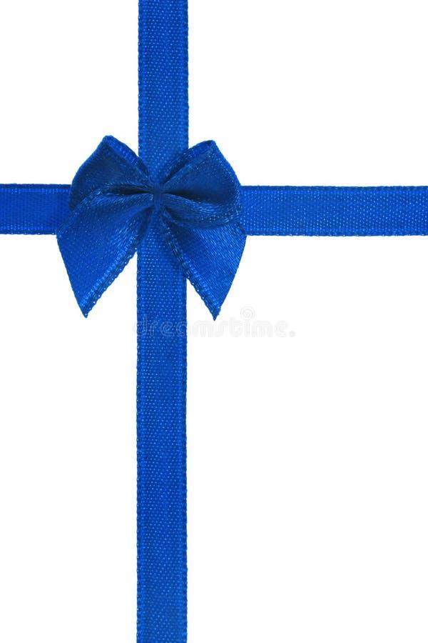 niebieski dziobu wstążkę dekoracyjny fotografia stock
