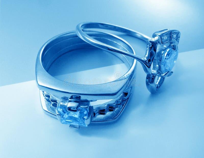 niebieski dzwoni dwa obrazy royalty free
