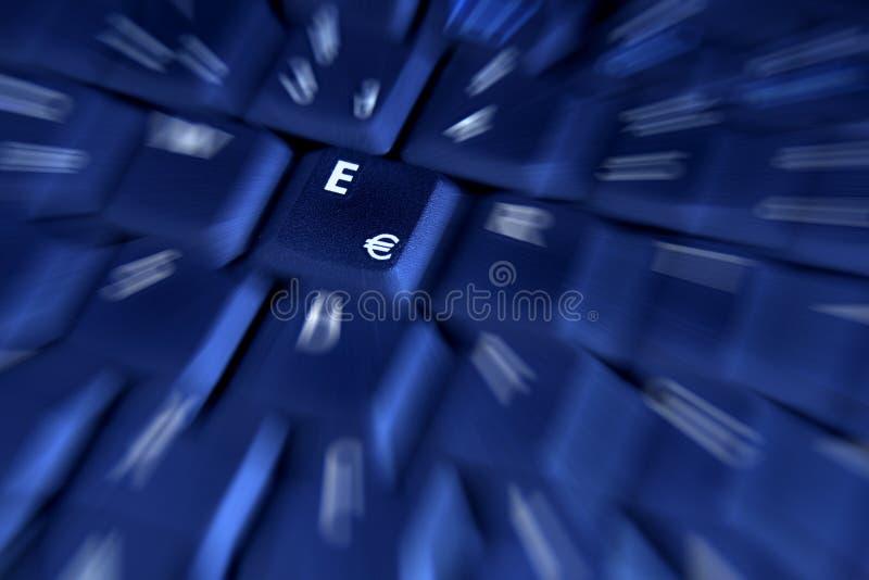 niebieski euro klucz obraz stock