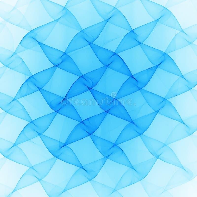 niebieski fale royalty ilustracja