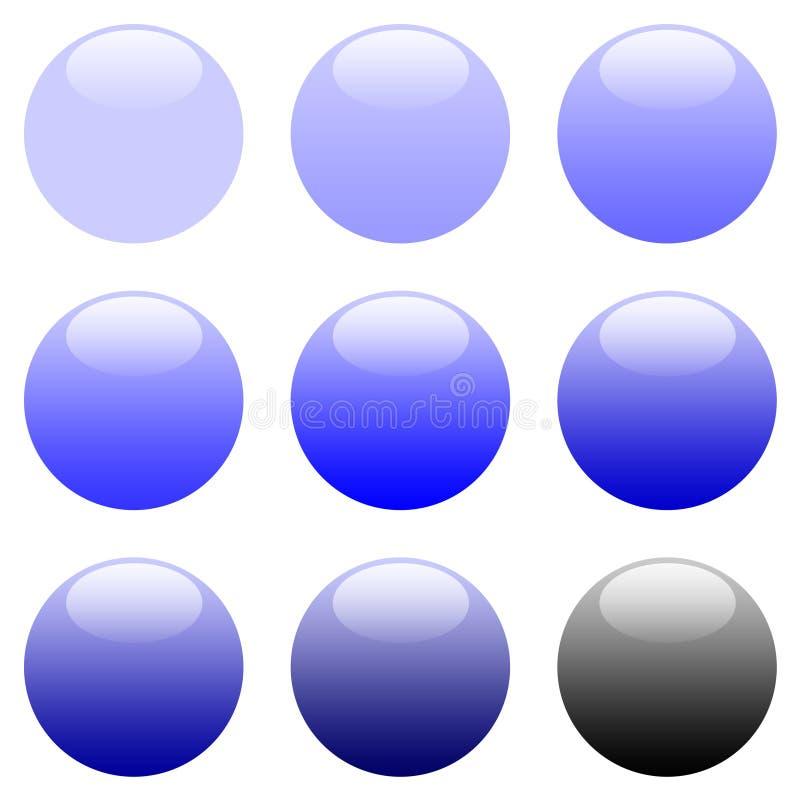 niebieski guzik gradientową runda sieci ilustracji