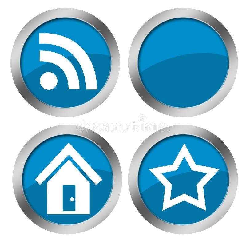 niebieski guzik sieci royalty ilustracja