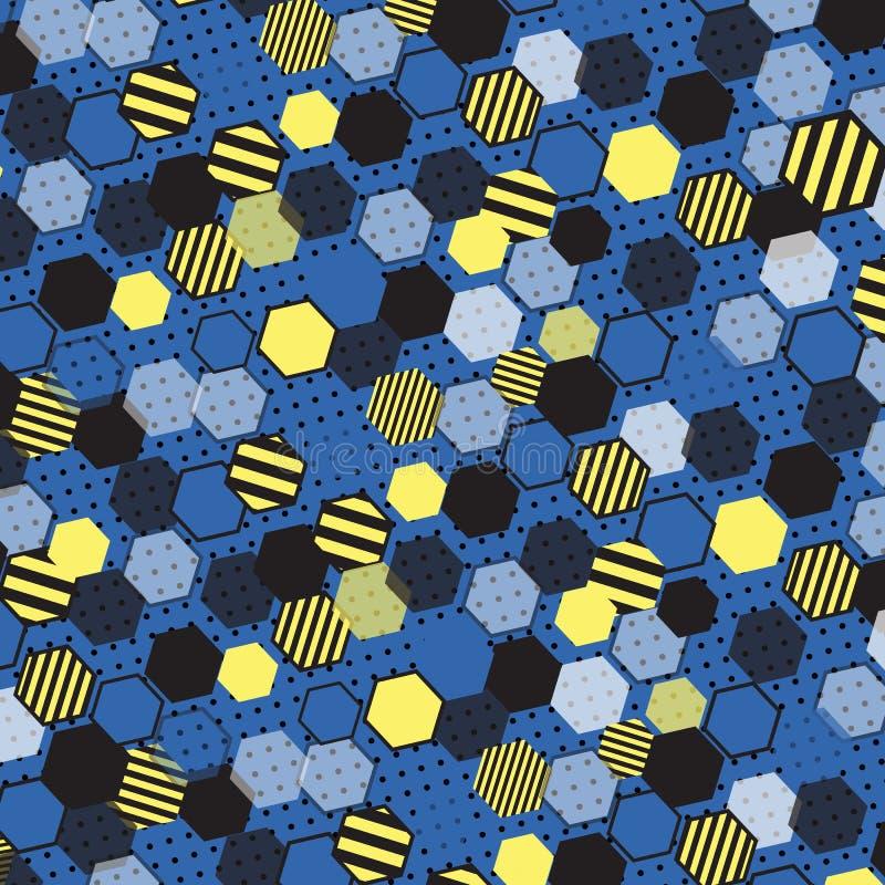 niebieski honeycomb zdjęcie stock