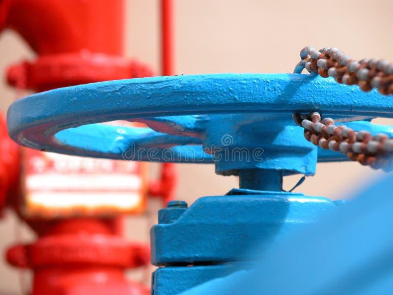 niebieski hydrant fotografia stock