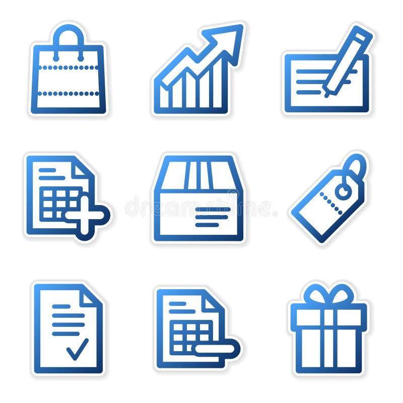 niebieski ikon serii na zakupy royalty ilustracja