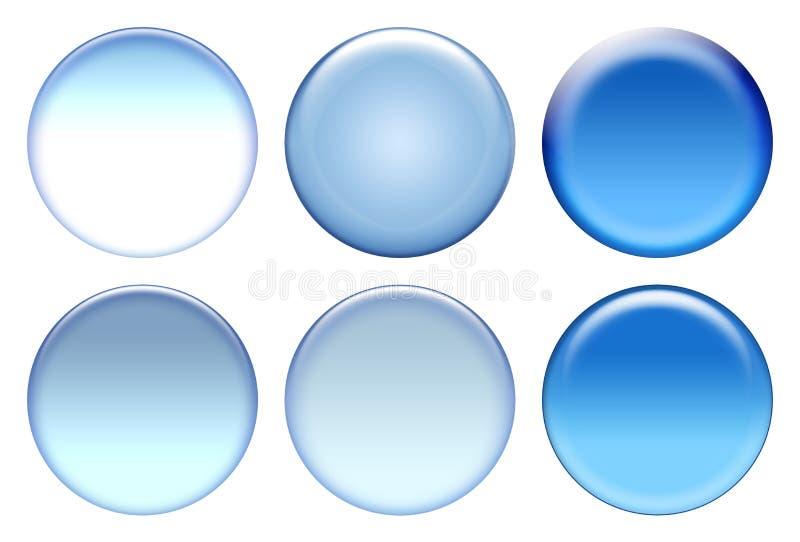 niebieski ikona zestaw ilustracji