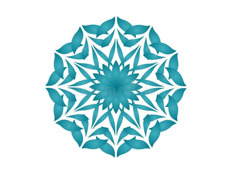 niebieski kalejdoskop ilustracja wektor