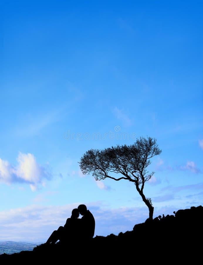 niebieski kilka niebo obraz royalty free