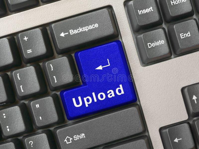 niebieski kluczowym klawiaturowy załadować obrazy stock