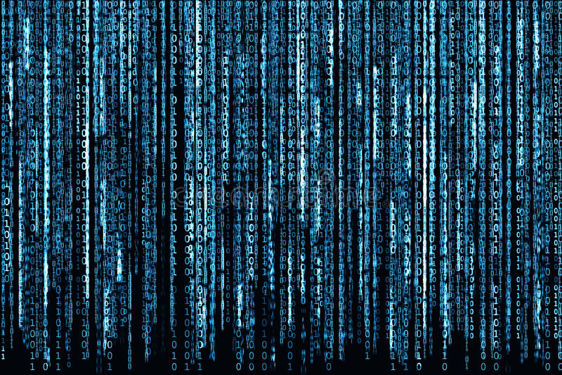 niebieski kod binarny ilustracji