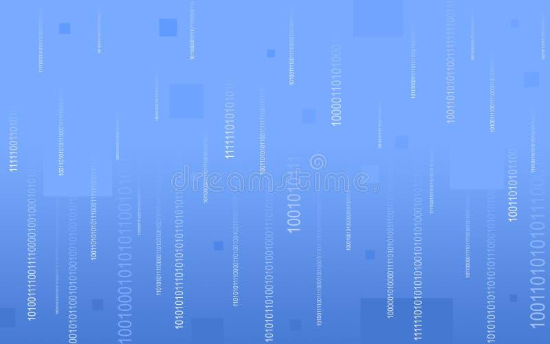 niebieski kod binarny upaść obrazy stock