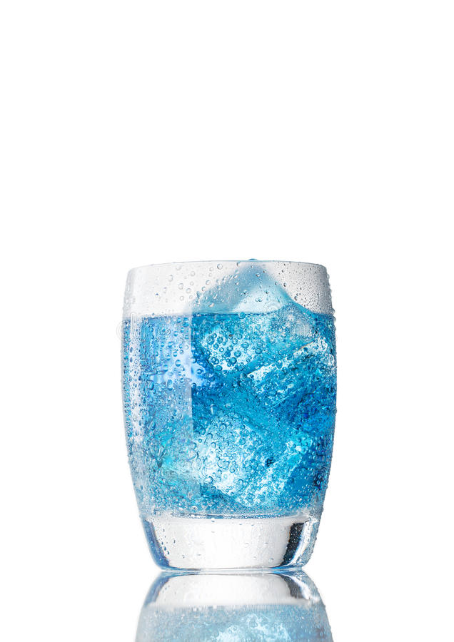 niebieski koktajl obraz stock