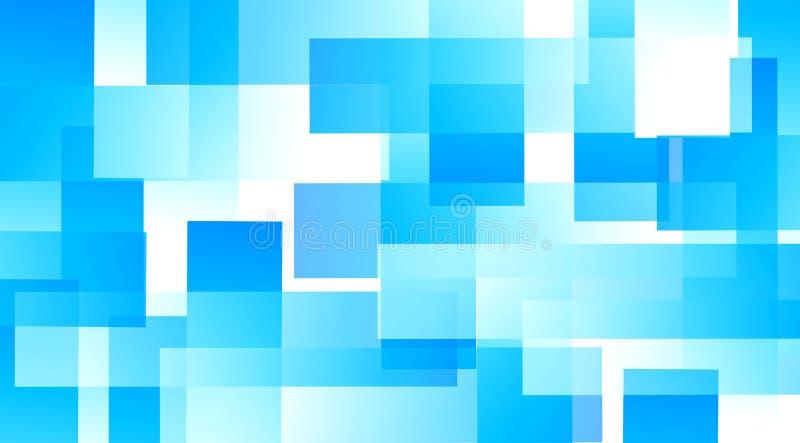 Niebieski kolorowy rozmyty wzór kostek na białym tle ilustracji