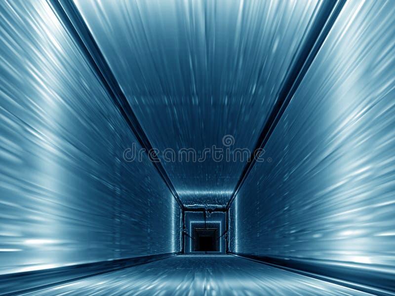 niebieski korytarza ilustracja wektor