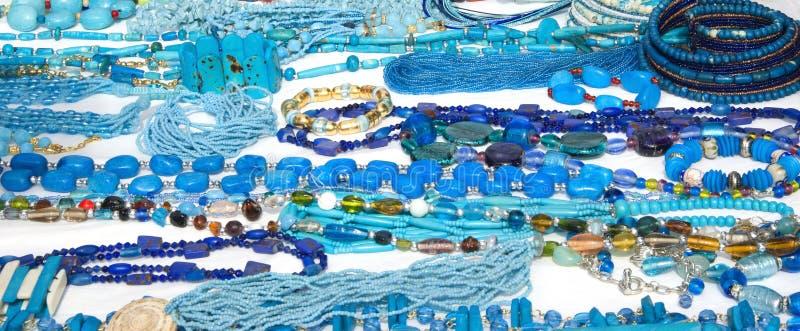 niebieski kostiumowe biżuterii zdjęcie stock