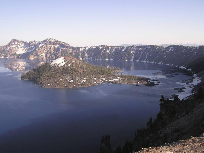 niebieski krateru jeziora obraz stock