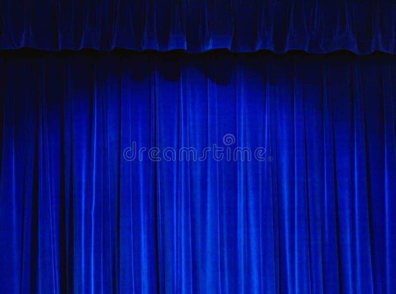 niebieski kurtyna teatr ilustracji