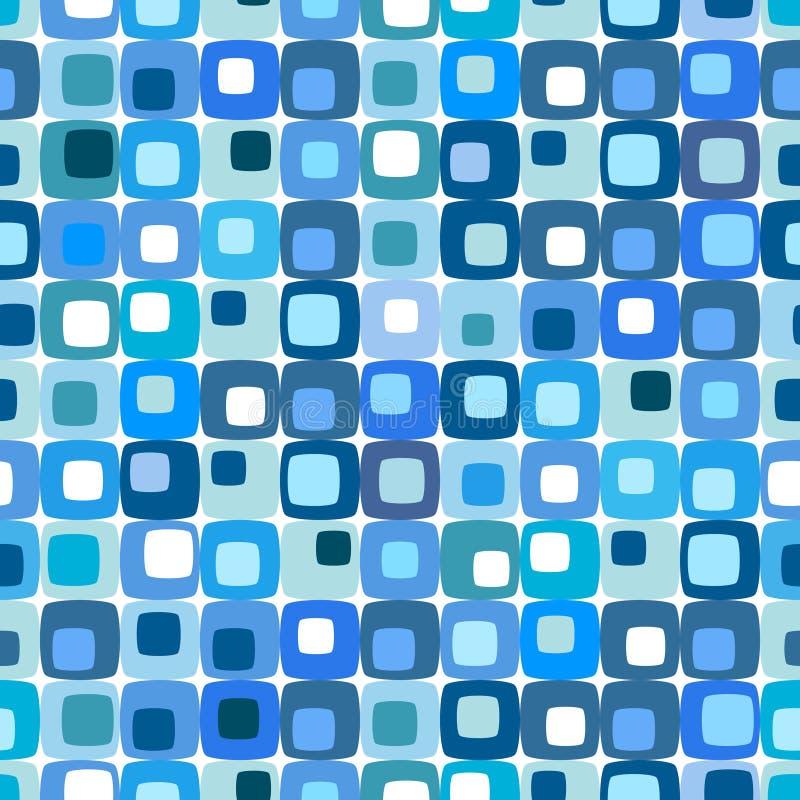 niebieski kwadrat retro wzoru royalty ilustracja