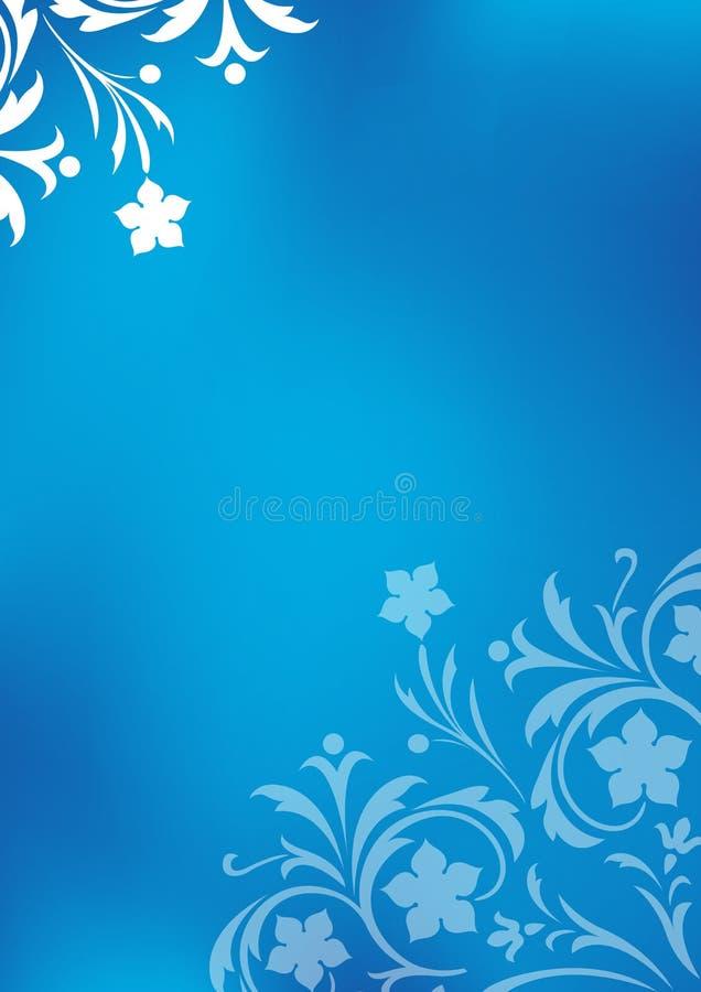 niebieski kwiecisty tła ilustracja wektor