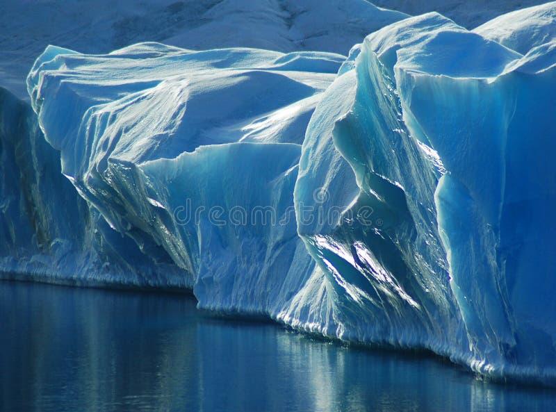 niebieski lód fotografia stock