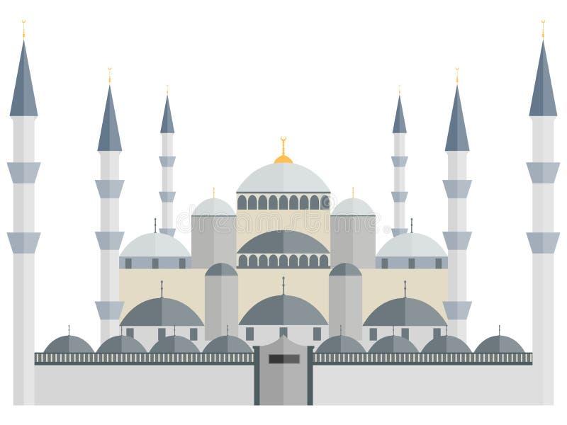 niebieski meczetu indyk istanbul ilustracja wektor