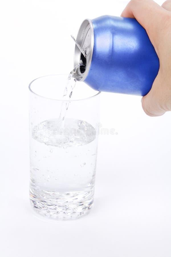 niebieski może soda szklana obrazy royalty free