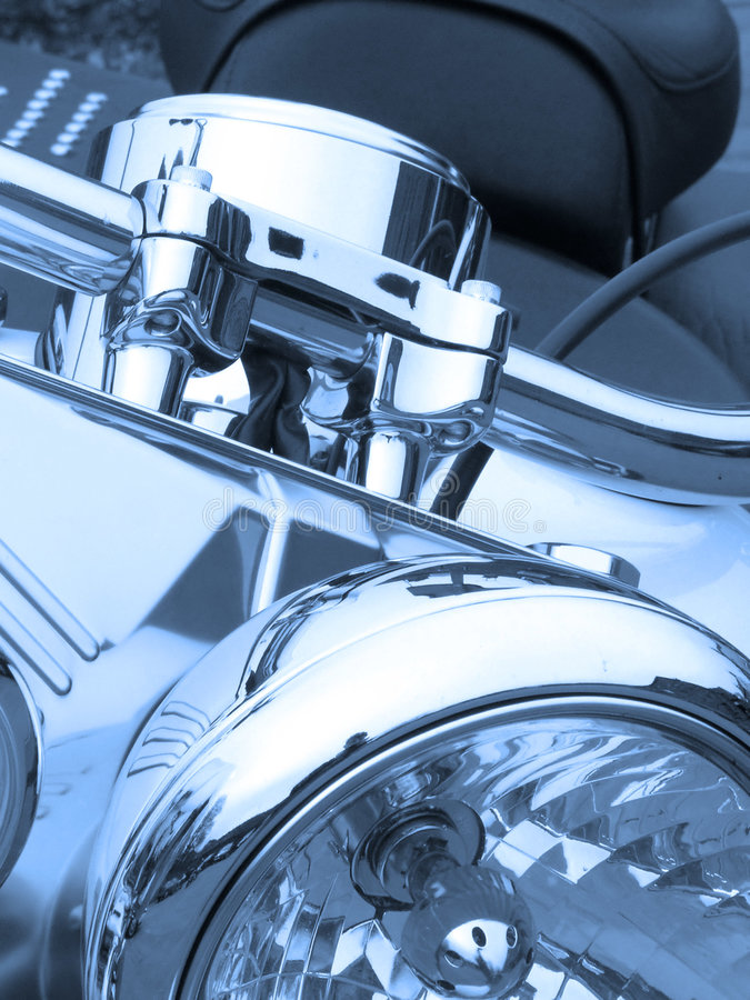 niebieski motocykla zdjęcia stock
