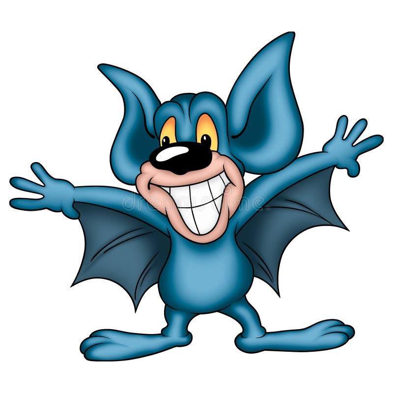 niebieski nietoperza się uśmiecha ilustracji