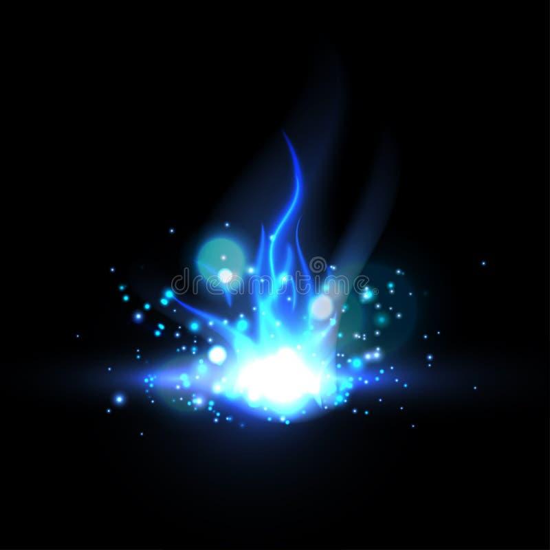 niebieski ogień royalty ilustracja