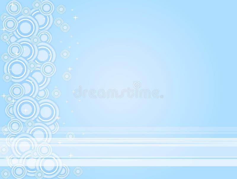 niebieski okrąża white royalty ilustracja