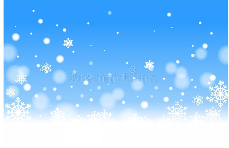 niebieski opad śniegu obrazy royalty free