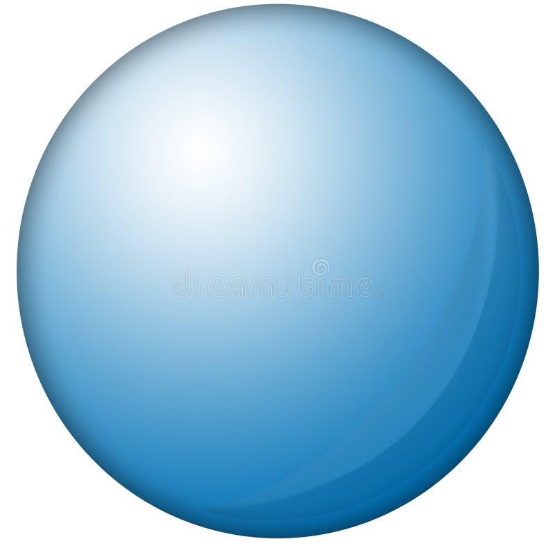 niebieski orb royalty ilustracja