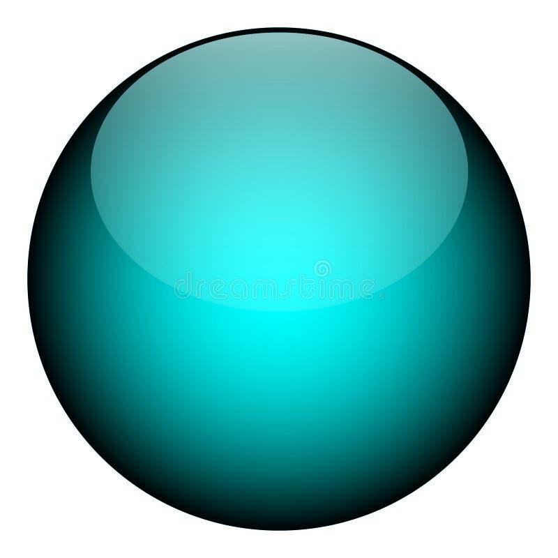 niebieski orb ilustracji