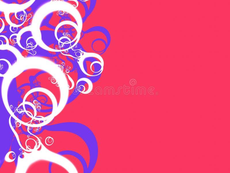 niebieski organicznych white czerwony ilustracja wektor