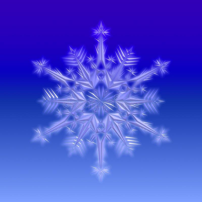 niebieski płatek śniegu royalty ilustracja