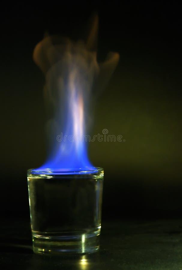 niebieski płomień fotografia stock