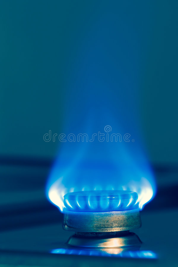 niebieski płomień gazu zdjęcie stock