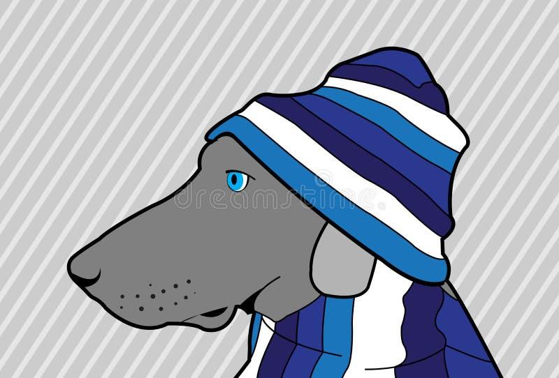 Niebieski Pies Obrazy Royalty Free