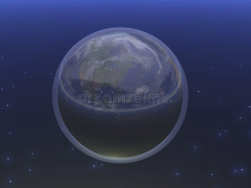 niebieski planetuję ilustracja wektor