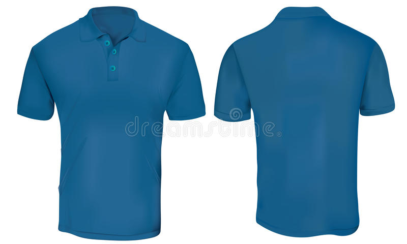 niebieski polo szablon koszulę ilustracja wektor