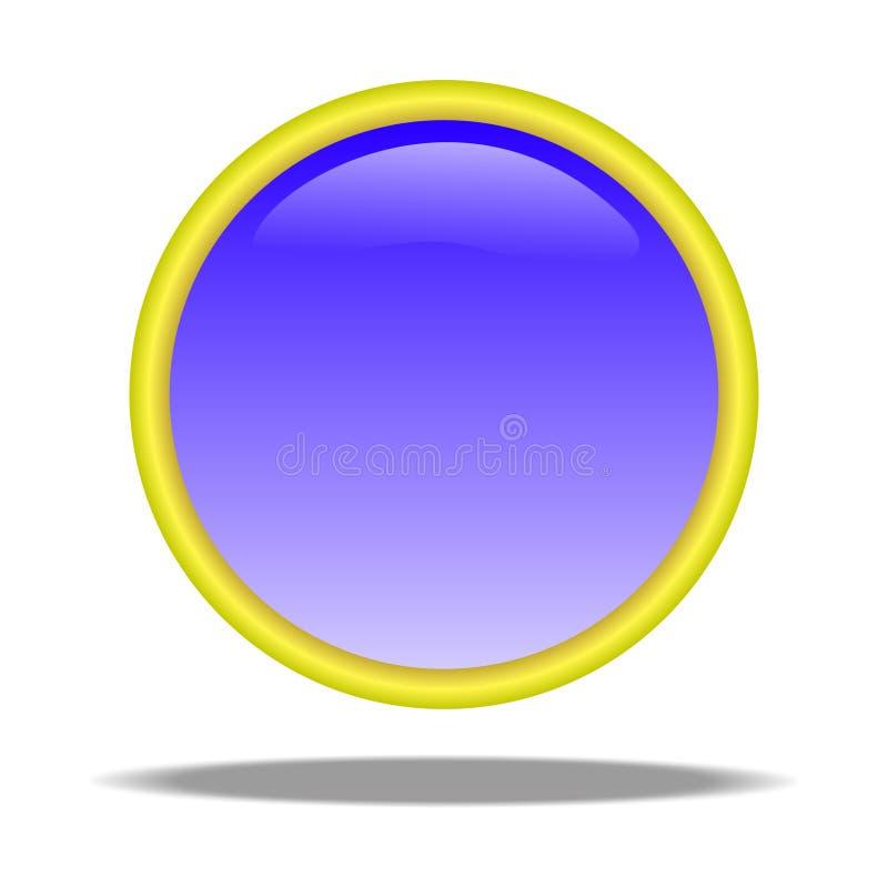 niebieski przycisk royalty ilustracja